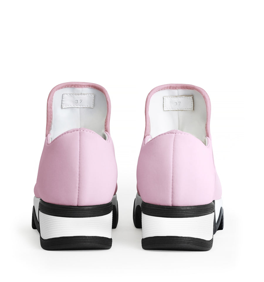 Unisex Pink Neoprene Low Top Sneaker