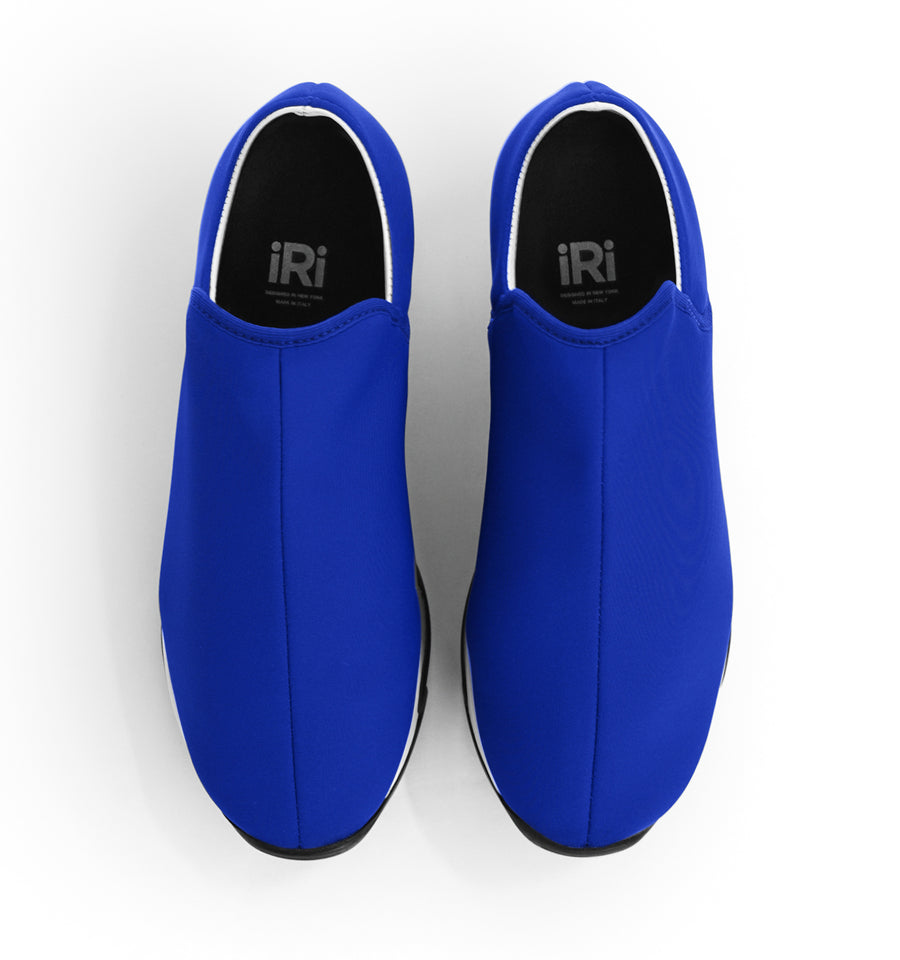Unisex Blue Neoprene Low Top Sneaker