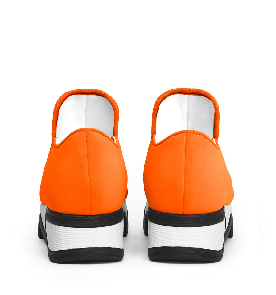 Unisex Orange Neoprene Low Top Sneaker