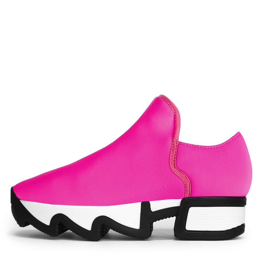 Unisex Fuchsia Neoprene Low Top Sneaker