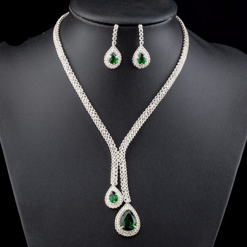 White Gold Plated Cubic Zirconia Jewelry Set