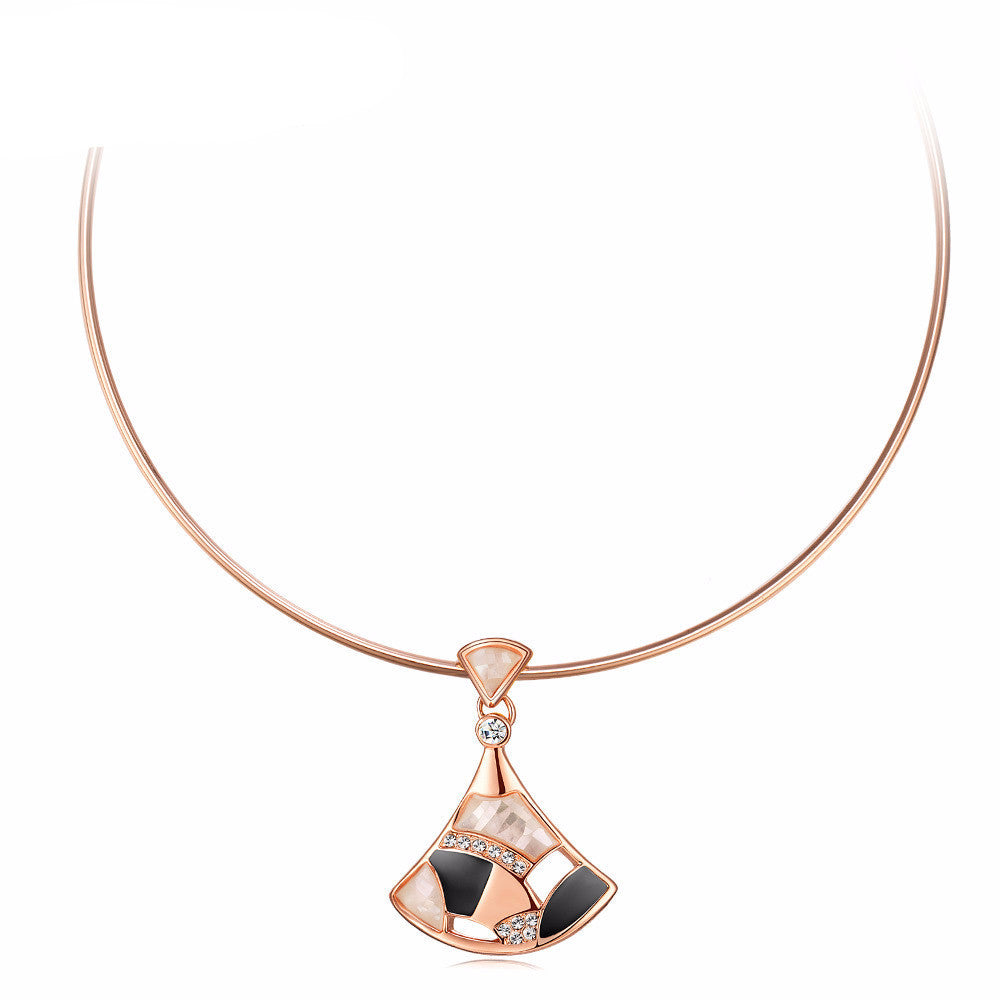 Rose Gold Plated Choker Necklace