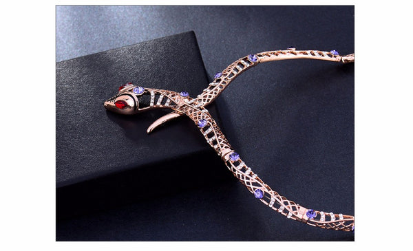 Rose Gold Plated Snake Necklace