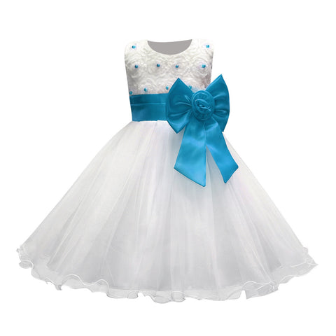 White First Holy Communion Lace Dress