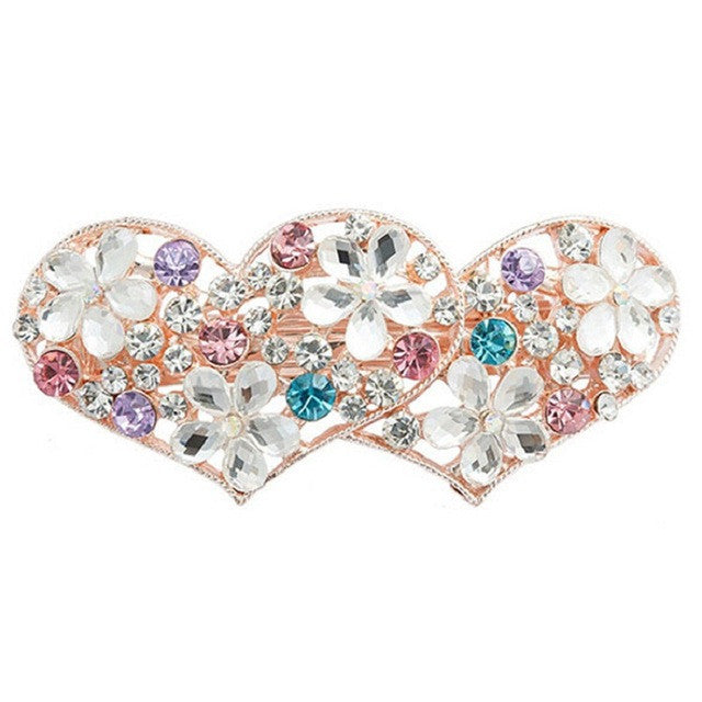 Beautiful Design with Crystals Hair Clip