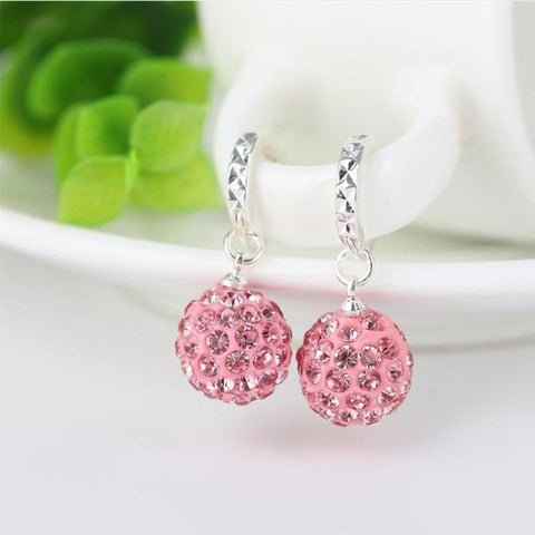 Sparkling Circular Drop Earrings