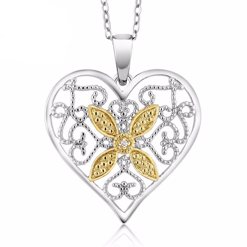 Gorgeous diamond accent heart pendant necklace orangizz gorgeous diamond accent heart pendant necklace aloadofball Image collections