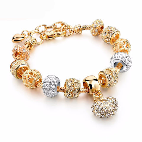 Stunnning Gold Plated Charm Bracelet