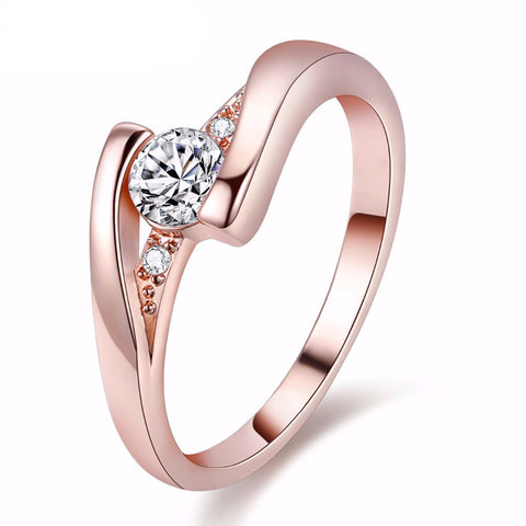 Classic Simulated Diamond Ring