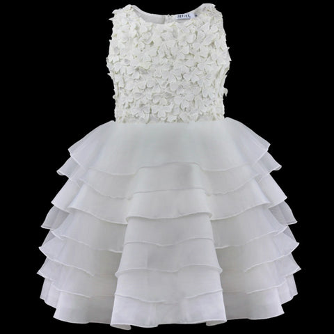 Floral Pattern First Communion Dress for Girls