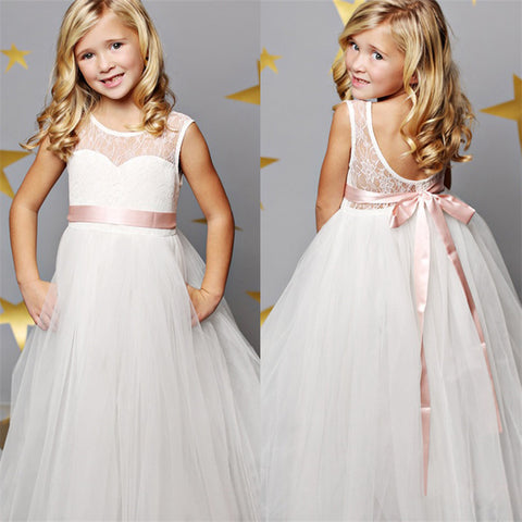 White Lace First Communion Dress