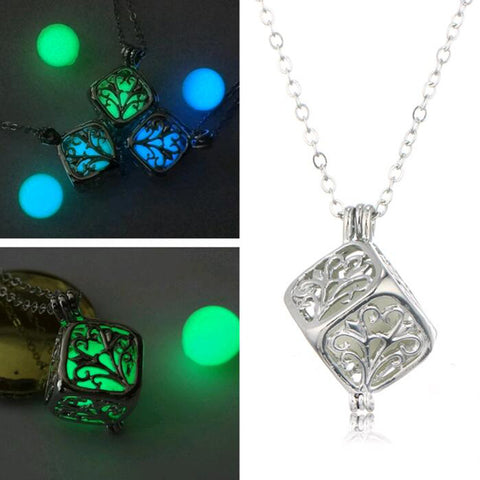 Magic Illuminated Cube Pendant Necklace