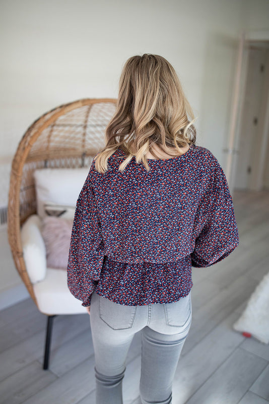 Floral Woven Top