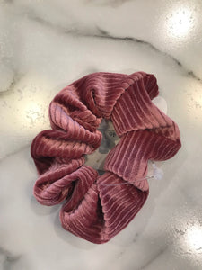 Striped Velvet Scrunchie