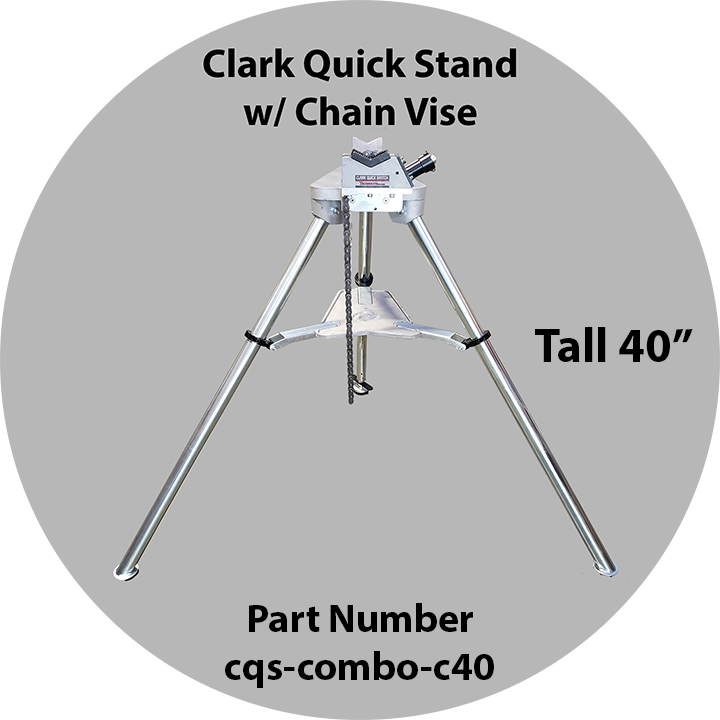 "Clark Quick Stand 40"" w/ Chain Vise"