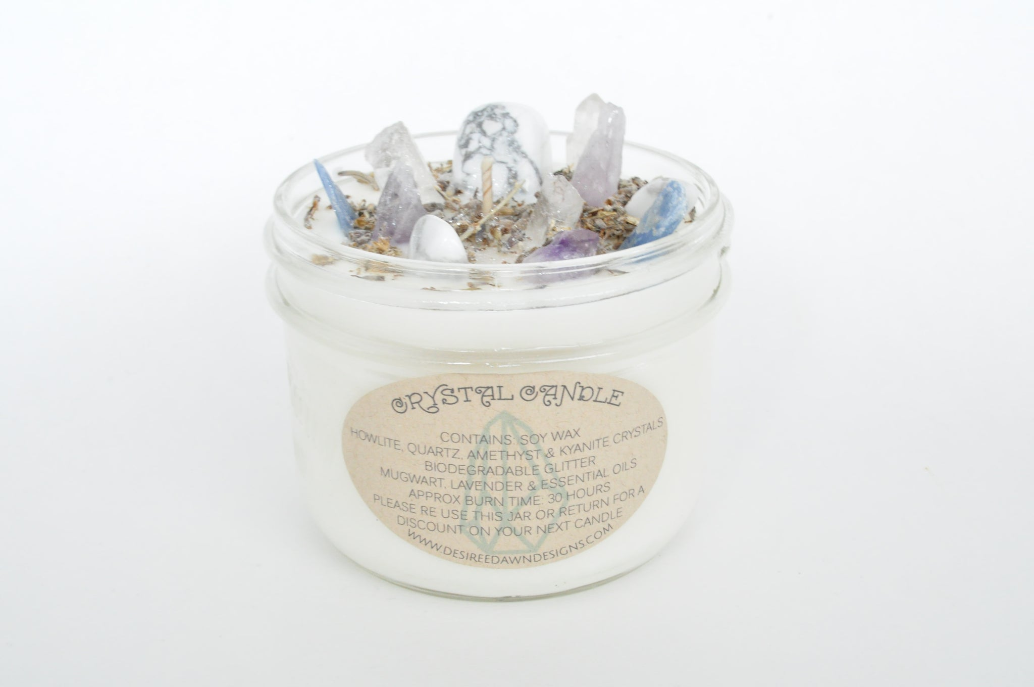Dream Weaver Crystal Candle