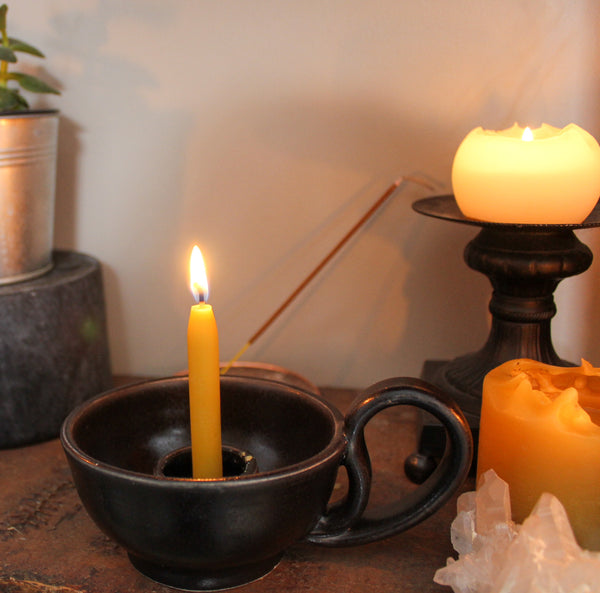 Yellow Ritual Beeswax Candles