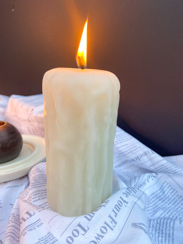White Beeswax Candle
