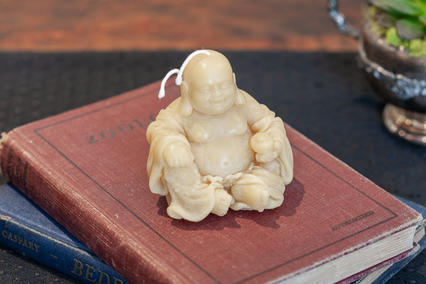 Yellow Beeswax Buddha Candle