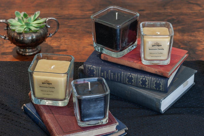 Beeswax Candles - Glass Containers