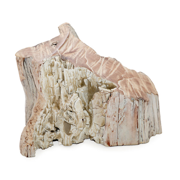 White Washed Stump Centerpiece
