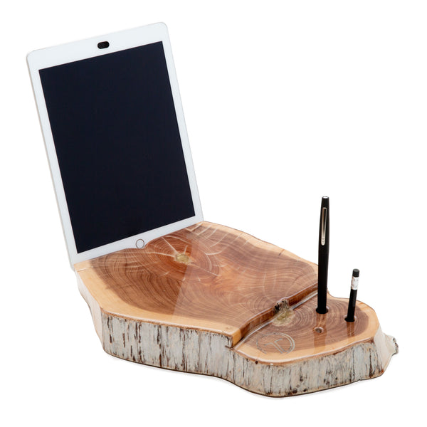 Desktop Cedar iPad Holder