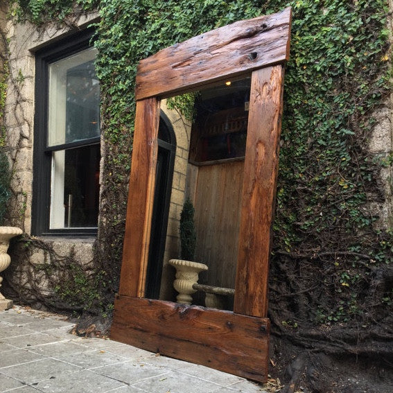 reclaimed cedar wood st augustine florida old town timber full length mirror