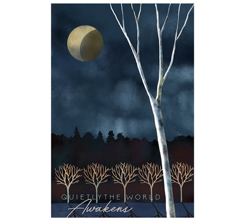 Quietly the World Awakens Lantern Press Postcard