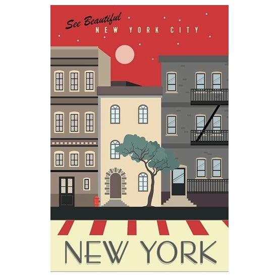 New York City Travel Poster Lantern Press Postcard