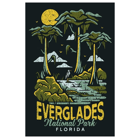 National Parks Everglades Florida Lantern Press Postcard