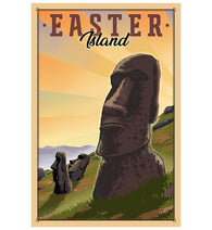 Easter Island Lantern Press Postcard