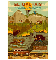 Geometric El Malpais National Monument Lantern Press Postcard
