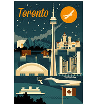 Retro Skyline Toronto Canada Lantern Press Postcard