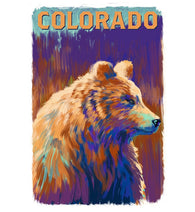 Vivid Color Bear Lantern Press Postcard