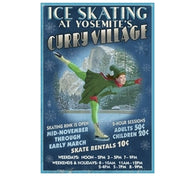 Ice Skating at Yosemite's Curry Village Poster Lantern Press Postcard