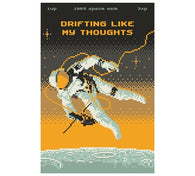 Drifting Like My Thoughts Astronaut Lantern Press Postcard