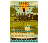 Geometric Essex, Connecticut Lantern Press Postcard