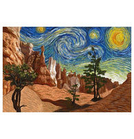 Starry Night Bryce Canyon Lantern Press Postcard