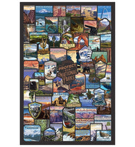 Collage National Parks Lantern Press Postcard