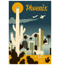 Retro Skyline Phoenix Arizona Lantern Press Postcard