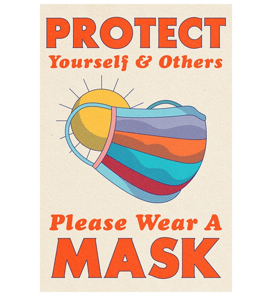 COVID-19 Protect Mask Lantern Press Postcard