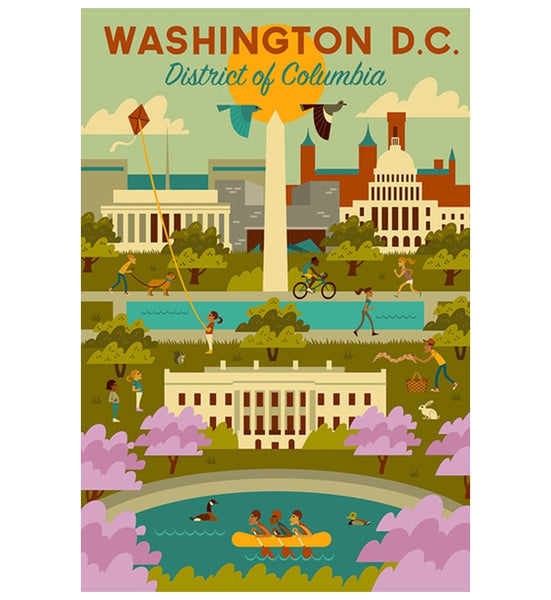 Geometric Washington DC Lantern Press Postcard