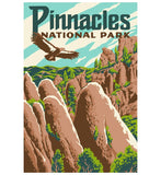 Explorer Pinnacles Lantern Press Postcard
