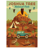 Geometric Joshua Tree National Park Lantern Press Postcard