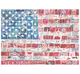 Paper Sisters Postage Stamp USA Flag