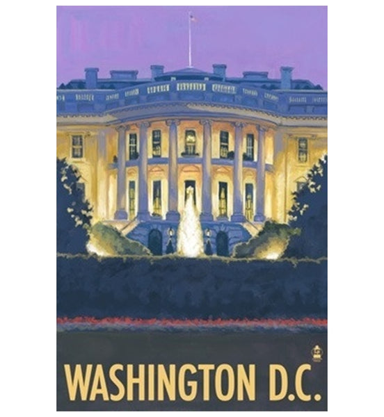 White House Washington DC Lantern Press Postcard