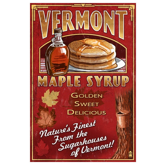 Vermont Maple Syrup Lantern Press Postcard