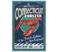 Connecticut Lobster Poster Lantern Press Postcard