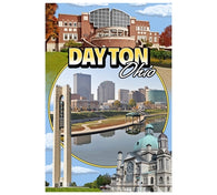 Montage Dayton Ohio Lantern Press Postcard