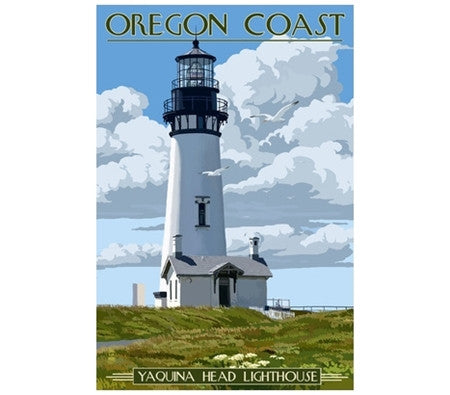 Oregon Coast Lighthouse - Lantern Press Postcard